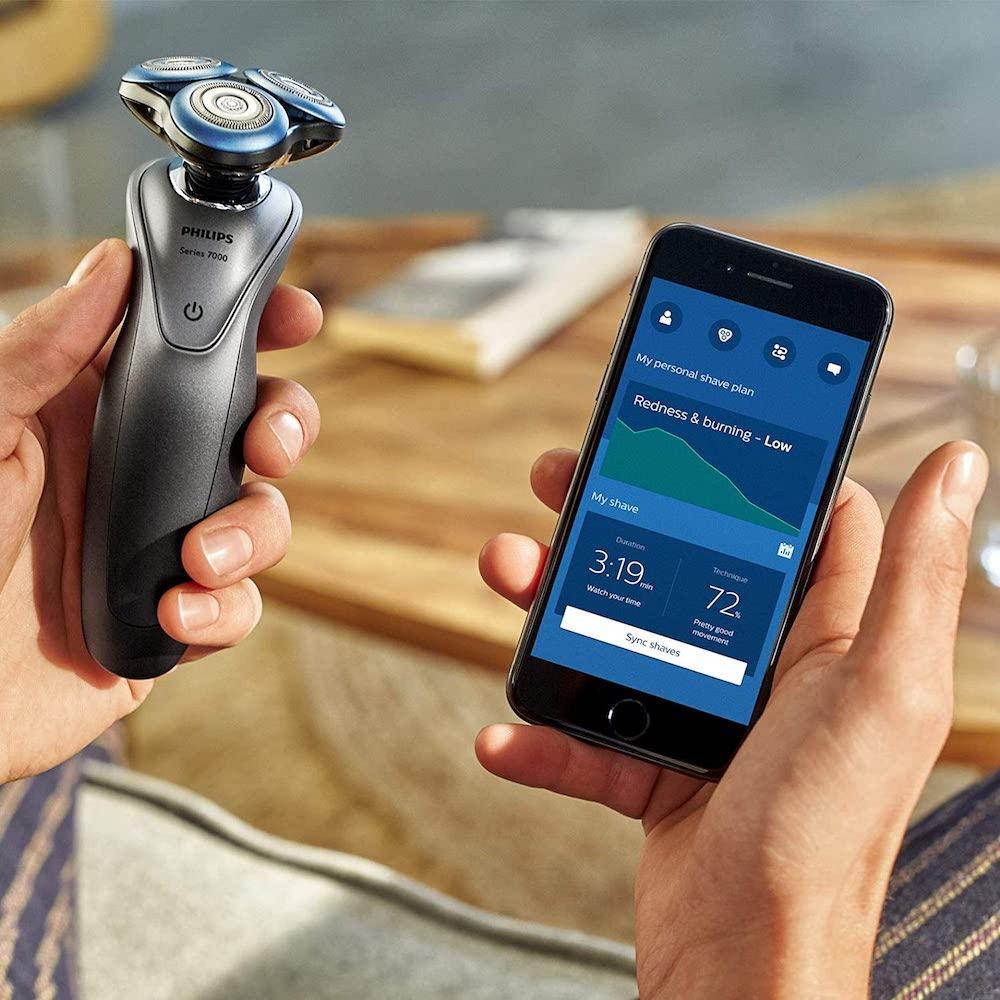 App de Philips con datos sobre el afeitado